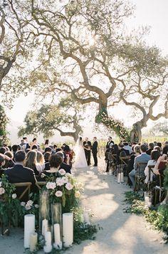Outdoor Sunstone Villa wedding ceremony: Photography: Jen Huang - http://jenhuangphoto.com/