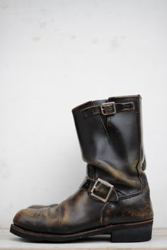 Red Wings Engineer Boots w/perfect wear! ⓀⒾⓃⒼⓈⓉⓊⒹⒾⓄⓌⓄⓇⓀⓈ