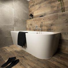 Rustic Master Bathroom, Bathroom Interior Design, Beautiful Homes, Toilet, Bathtub, Shower, House, Houses, Bath