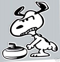 i feel this way about curling sometimes too Snoopy...