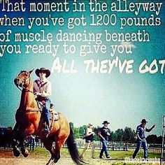 Barrel racing, horses that give you all they've got