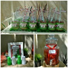 woodland baby shower drinks