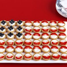 Fruit-Tart Flag - love tarts this is a great idea.