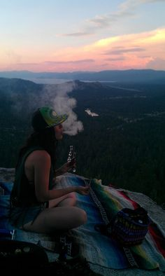 This is something I wanna do. Smoke while you're sitting in front something beautiful and take it all in. I wanna become one with the world.