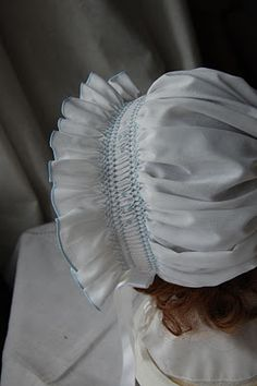 The Old Fashioned Baby Sewing Room: Smocked Bonnet.
