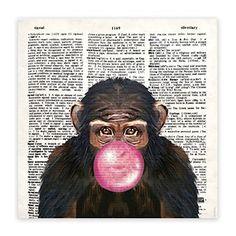 Gravura Macaco Mudo