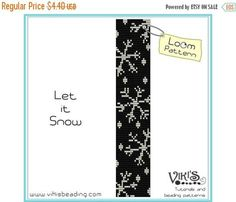 25% off SALE Loom Pattern - Let it Snow - INSTANT DOWNLOAD pdf -Discount codes are available