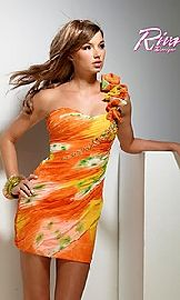 tropical colored prom dresses