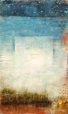 """Temagami by Laura Culic - encaustic and oil on panel 14x24""""  http://lauraculic.com/earlier-paintings/2011-encaustic-paintings/#.Upq4K7st22I #mixed_media"""