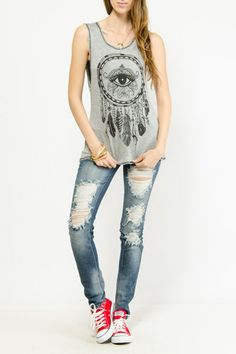 All Seeing Eye Graphic Tank $10.99