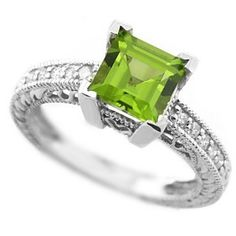 Hey, I found this really awesome Etsy listing at http://www.etsy.com/listing/130416066/princess-green-peridot-diamond