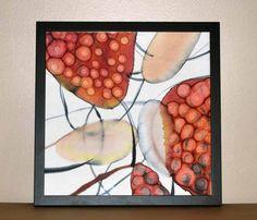 jana lamberti silk art glass framed no mat abstract 800