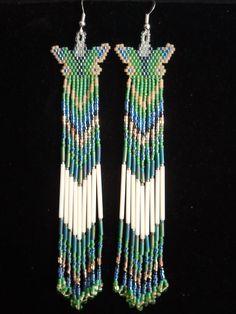 Native American made butterfly earrings by NavajoRainbowDesigns, $25.00