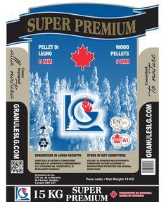 Pellet Super Premium Canadese Super Premium Lg  Vero pellet di legno del canada di abete con altissimo potere calorifico a € 5,49 il sacco di 15 kg.