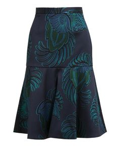 Eagle Crest Printed Wool-blend Skirt | Stella McCartney