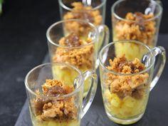 pomme, foie gras, pain d'épices, confit de courgettes, beurre, sucre