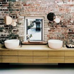 Check Out 33 Cool Bathrooms With Brick Walls And Ceilings. Brick Walls Are  Ideal For Decoration, They Add An Industrial Touch, Make The Space Cozier  And ...