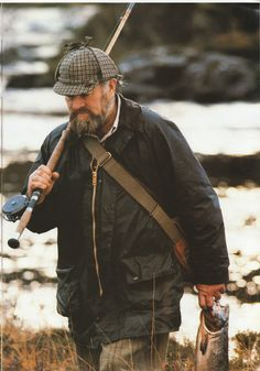 The Gamefair JacketLightweight Barbour Thornproof in Sage as it appeared in the venerable company's 1987 catalog. Salmon Fishing, Trout Fishing, Fishing Lures, Fly Fishing, Hardy Fishing, Fishing Photos, Fishing Tips, Fishing Stuff, Fishing Humor