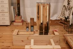 Japanese tools #14: Japanese toolbox - finish drawer, wood nails and final details. woodworking community