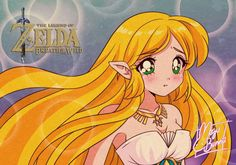 Princess Zelda from Breath of the Wild in 90 Style. This is the second time I try this and she kinda looks like Sailor Moon, lol. Kawaii Anime, 90 Anime, Anime Art, Anime Style, Fanart, Aesthetic Art, Aesthetic Anime, Anime Images, Sailor Moon