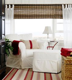 Everything Coastal....: Walk the Line...Decorating with Summer Stripes!