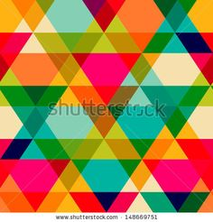 Pattern of geometric shapes. Triangles.Texture with flow of spectrum effect. Geometric background. Copy that square to the side, the resulting image can be repeated, or tiled, without visible seams. - stock vector
