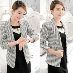 Women's One Button Slim Casual OL Business Blazer Suit Lady Jacket Coat Outwear #GoldFrog #Blazer