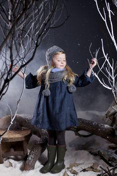 Little Bean Shop: Winter Wonderland. Children's clothing by Fashion Designer Nelly Chen). Little Girl Outfits, Little Girl Fashion, Toddler Fashion, Kids Fashion, Fashion Design, Ladies Fashion, Little Red Ridding Hood, Kids Winter Fashion, Kid Swag