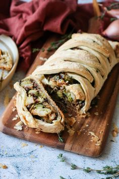 Cajun Delicacies Is A Lot More Than Just Yet Another Food Imagine This Veggie-Filled Herbed Butternut Squash Wellington At The Center Of Your Thanksgiving Spread. It will Be The Talk Of The Table Vegan, Vegetarian, Holiday Main, Meatless Holiday Main Vegan Dinner Recipes, Vegan Dinners, Vegetarian Recipes, Vegan Vegetarian, Vegetarian Meatloaf, Vegan Food, Dessert Recipes, Vegan Christmas, Vegan Thanksgiving