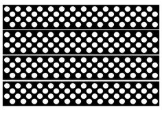 Bulletin Board borders with a black background and white polka dots.