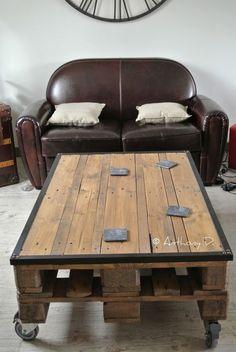 La table basse en palettes d'Anthony