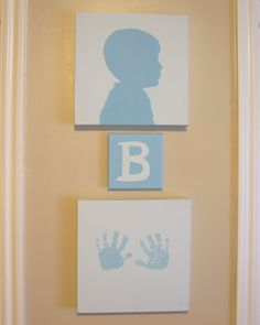 Love this DIY idea to decorate your child's room AND create a wonderful keepsake!