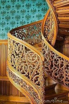 Old spiral stairs by Jkht, via Dreamstime. i didn't imagine this fancy, but … Old spiral stairs by Jkht, via Dreamstime. i didn't imagine this fancy, but its good enough.