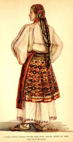 Izvor, Vidin Folk Clothing, Medieval Clothing, Traditional Hairstyle, Traditional Outfits, Folk Fashion, Fashion Line, Folk Costume, Costumes, Historical Hairstyles
