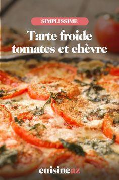Cette tarte froide tomates et chèvre est parfaite pour un pique-nique ou une lunch box! #recette#cuisine #patisseriesalee #parte #tomate #chevre #fromage Quiche, Breakfast, Salty Tart, Grated Cheese, Torte, Morning Coffee, Quiches