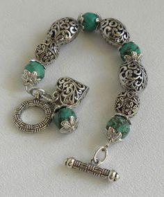Handmade Beaded Jewelry, Handmade Bracelets, Wire Jewelry, Jewelry Crafts, Jewelry Bracelets, Jewelery, Silver Bracelets, Bangles, Silver Rings