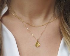 Minimalist and Dainty Layered Necklaces and Jewlery by LandonLacey Jewlery, Jewelry Necklaces, Delicate Gold Necklace, Compass Necklace, Bridal Jewelry, Fine Jewelry, Minimalist, Gemstones, Handmade