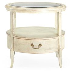 Check out this item at One Kings Lane! Chrissy Side Table, Distressed Green