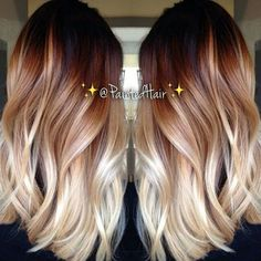 ombre hair Balayage is the hot new way to color hair. and it is quickly becoming the most popular treatment at salons. Ombre Hair Color, Blonde Color, Brown Blonde, Color Red, Red Blonde Ombre Hair, Hair Colors, Brown Hair With Blonde Ends, Brown To Red Ombre, Root Color