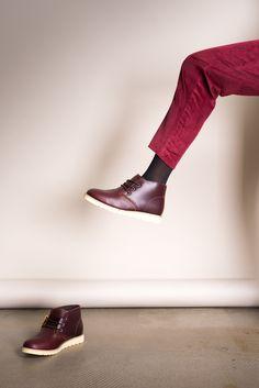 Ботинки AFFEX «Saint-P» на меху коричневого цвета, вид на модели - эксклюзивно от Неповторимых