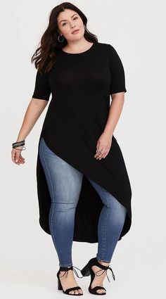 Plus size jeans denim blau curvy fashion & accessories i 201 Plus Size Jeans, Look Plus Size, Plus Size Style, Curvy Plus Size, Curvy Outfits, Mode Outfits, Casual Outfits, Fashion Outfits, Fashion Ideas