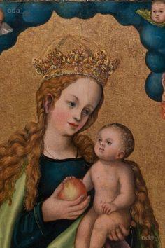 Madonna auf der Mondsichel verehrt von dem Stifter Hieronymus Rudelauf vor 1523 Lucas Cranach der Ältere Städel Museum Frankfurt a.M. CRANACH DIGITAL ARCHIVE