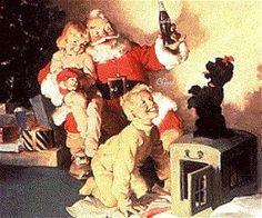 1964 Vintage Christmas Coke ad . . .