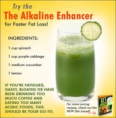 The Alkaline Enhancer for Faster Fat Loss -- Juicing Recipe
