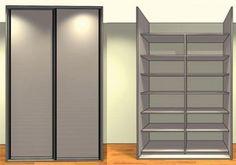 Placard sur mesure 2 portes coulissantes bois mélaminé - Ref:2C1-2V1