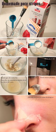 """Home made """"Pore stripes"""". How amazing is this?"""