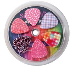 Guitar Picks for Girls - Assorted Variety 12-Pack Collection Set - Pretty Unique Designs Cool Pink Leopard