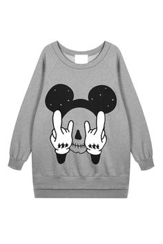 Cartoon Skull cashmere sweater plus Sweatshirts CLOTHING Voguec Shop Mickey mouse