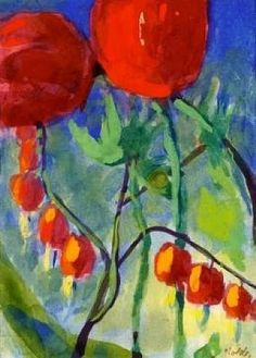 Emile Nolde (German~Danish 1867~1956)   He was one of the first Expressionists, a member of Die Brücke.