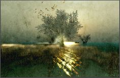 Gilmour, via Flickr. Second Life, Landscapes, Country Roads, Painting, Art, Mists, Paisajes, Art Background, Scenery